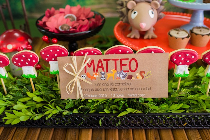 Woodland stationery from an Enchanted Forest Birthday Party on Kara's Party Ideas   KarasPartyIdeas.com (14)