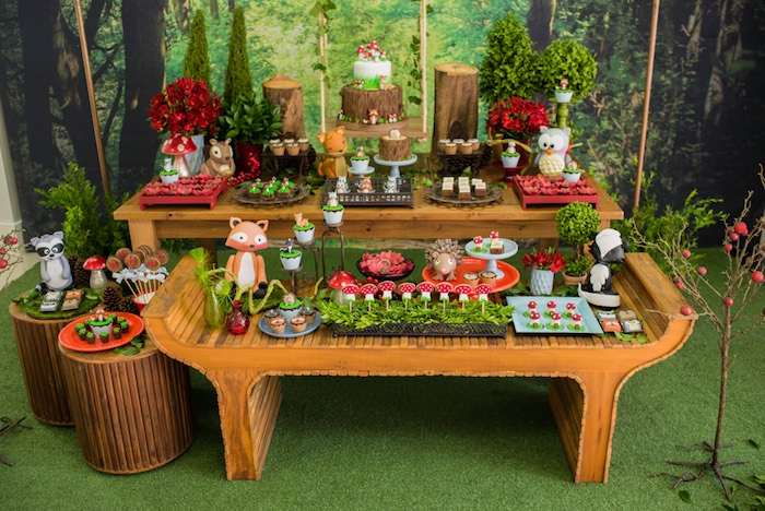 Enchanted Forest Birthday Party on Kara's Party Ideas   KarasPartyIdeas.com (12)