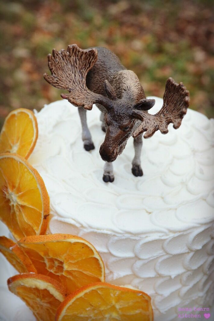 Moose cake topper from a Fall Dessert Table on Kara's Party Ideas | KarasPartyIdeas.com (10)