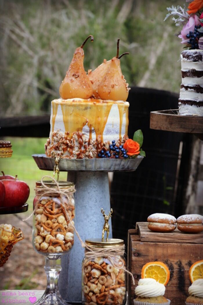 Cakescape from a Fall Dessert Table on Kara's Party Ideas | KarasPartyIdeas.com (27)