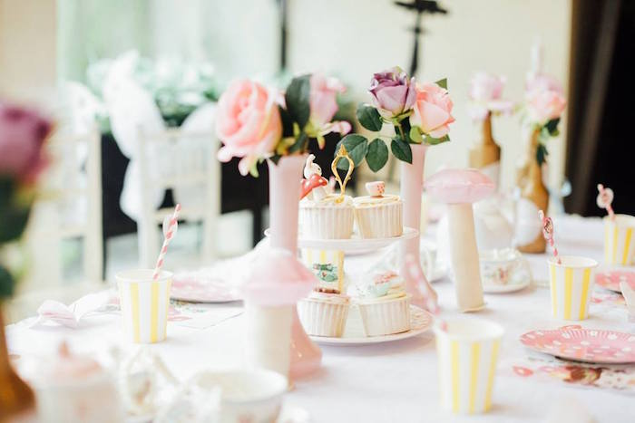Guest tablescape from a Friendly Fairy Birthday Party on Kara's Party Ideas | KarasPartyIdeas.com (13)