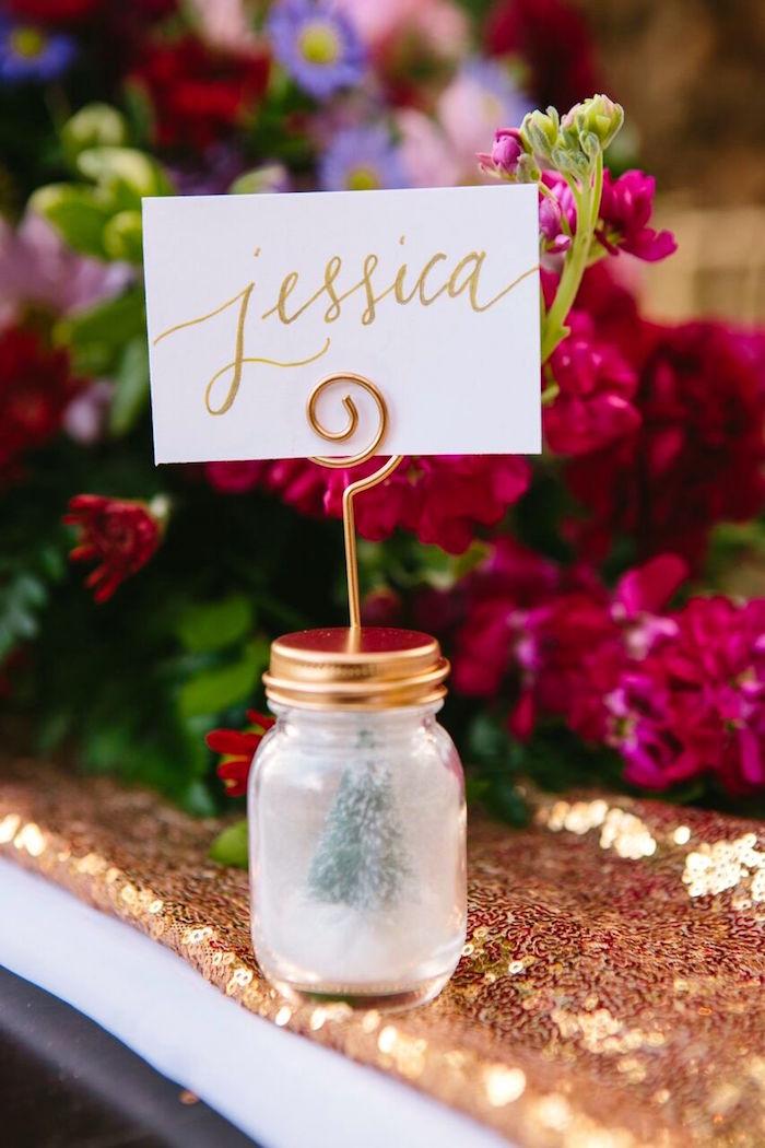 Wedding Place Card Ideas 97 Inspirational Snow globe place card