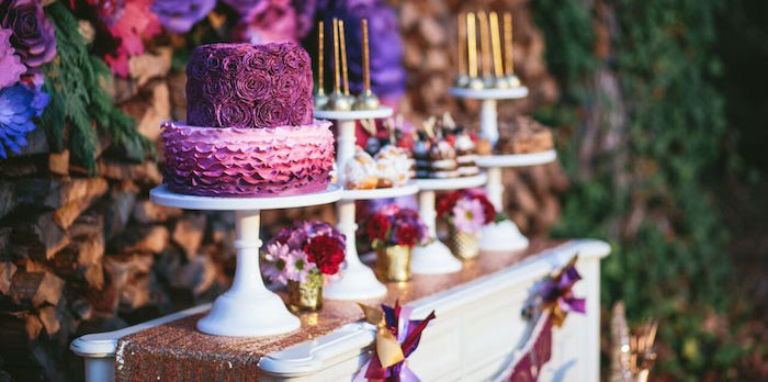 Floral Woodsy Wonderland Party | Dessert Table on Kara's Party Ideas | KarasPartyIdeas.com (3)