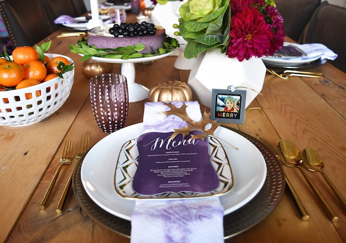 Place setting from a Friendsgiving Dinner Party on Kara's Party Ideas | KarasPartyIdeas.com (15)