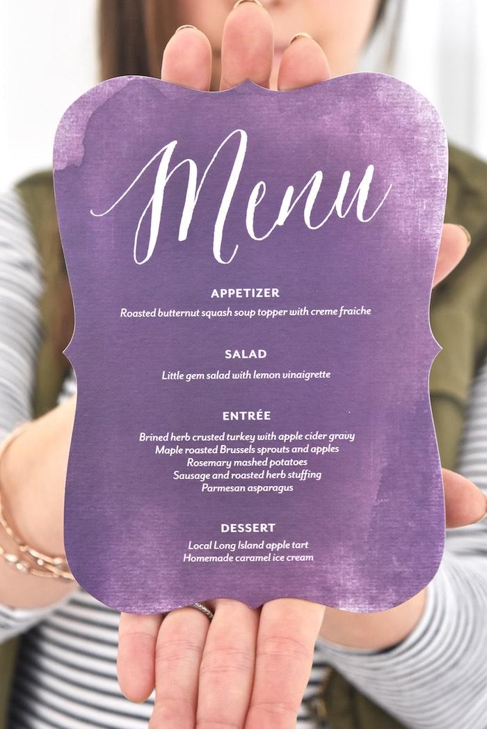 Menu from a Friendsgiving Dinner Party on Kara's Party Ideas | KarasPartyIdeas.com (9)