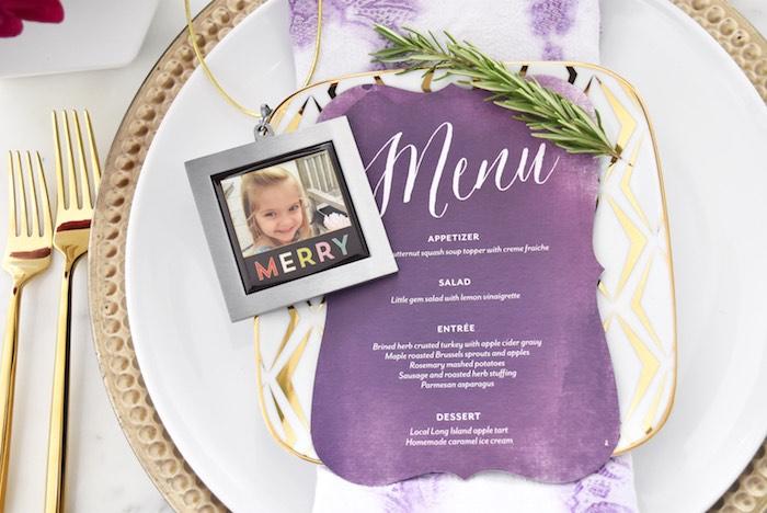 Menu card from a Friendsgiving Dinner Party on Kara's Party Ideas | KarasPartyIdeas.com (4)