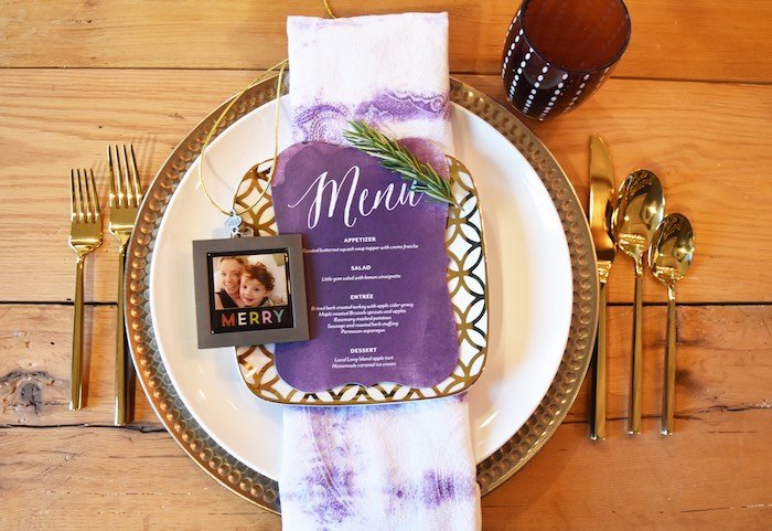 Place setting from a Friendsgiving Dinner Party on Kara's Party Ideas | KarasPartyIdeas.com (29)