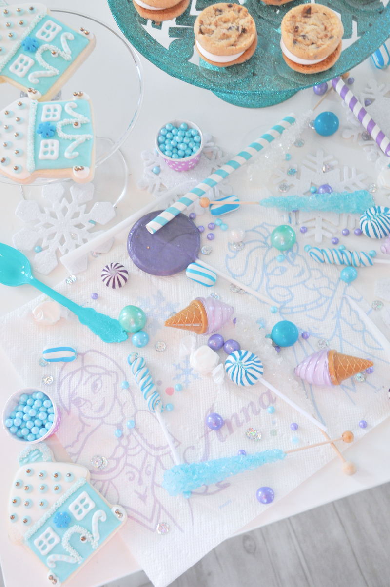 Karas Party Ideas Turquoise Purple Frozen Birthday Party
