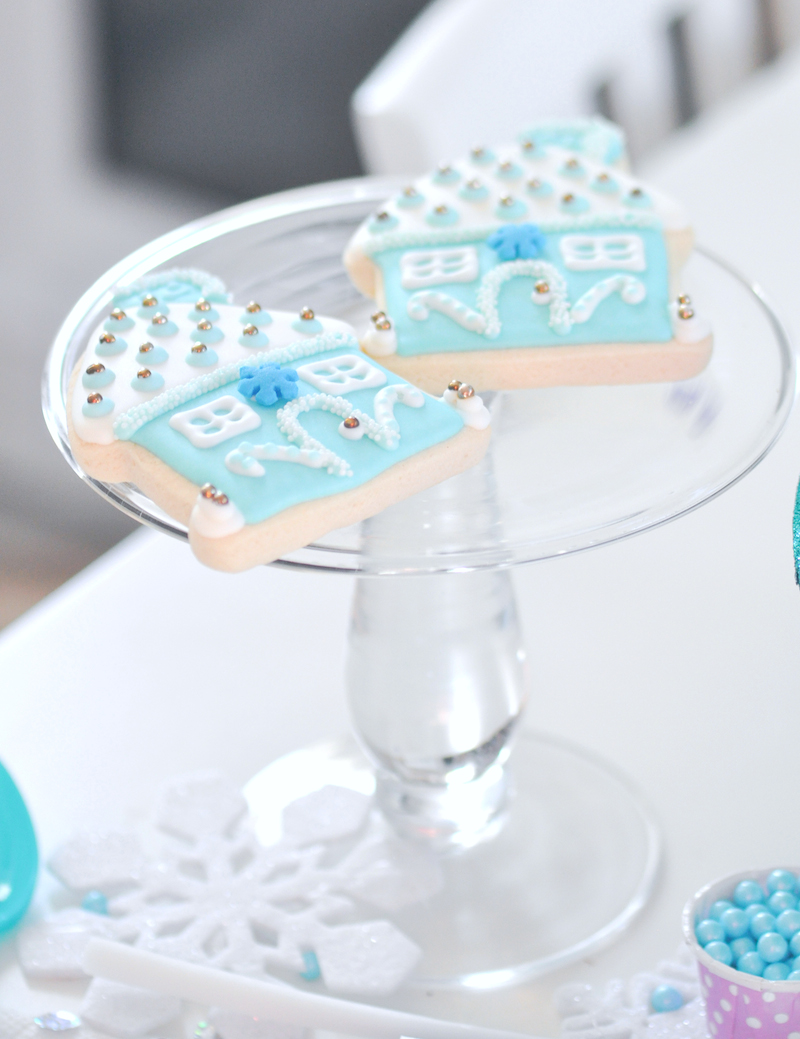 Frozen cookies! Turquoise and Purple Birthday Party by Kara's Party Ideas | Kara Allen for Bounty