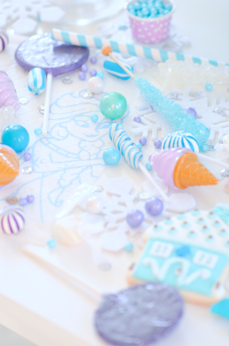 Frozen Turquoise and Purple Birthday Party by Kara's Party Ideas | Kara Allen for Bounty