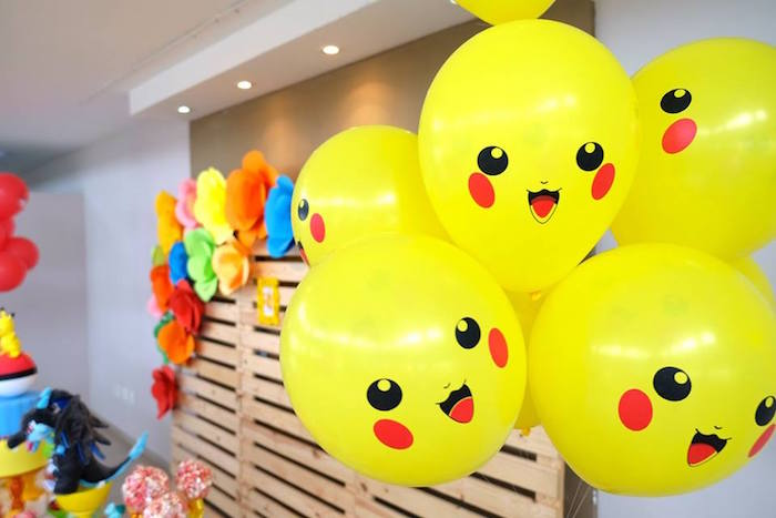Pikachu Balloons at a Girly Pokemon Birthday Party via Kara's Party Ideas | KarasPartyIdeas.com (31)