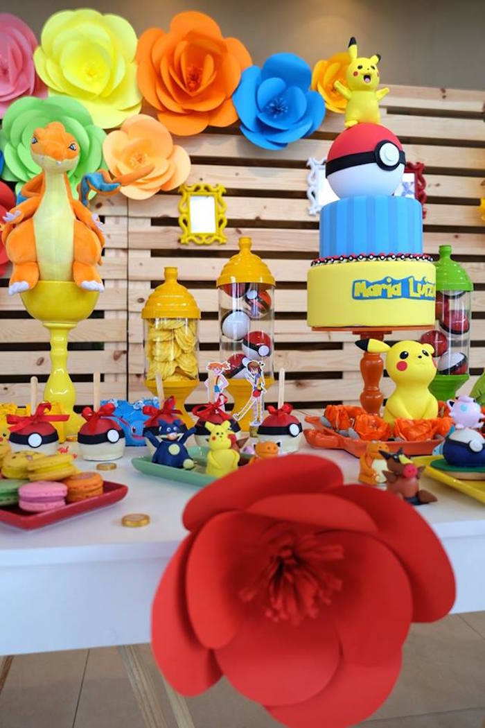 Girly Pokemon Birthday Party via Kara's Party Ideas | KarasPartyIdeas.com (30)