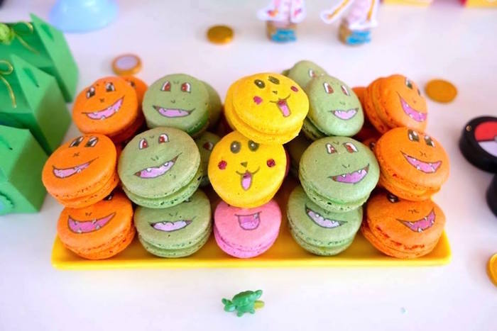Pokemon Macarons at a Girly Pokemon Birthday Party via Kara's Party Ideas | KarasPartyIdeas.com (25)