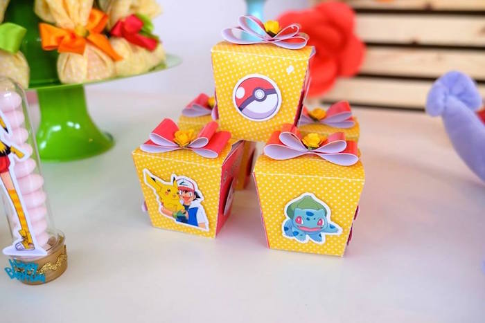 Pokemon Chinese Favor Boxes at a Girly Pokemon Birthday Party via Kara's Party Ideas | KarasPartyIdeas.com (23)