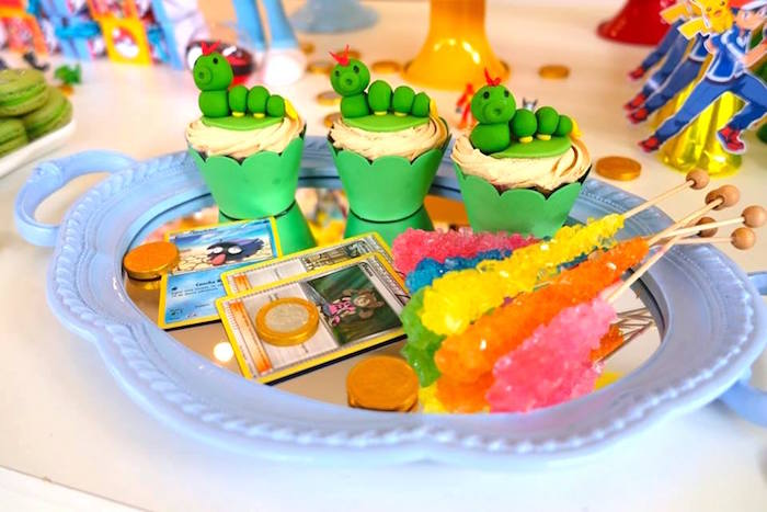 Cupcakes and Sugar Sticks at a Girly Pokemon Birthday Party via Kara's Party Ideas | KarasPartyIdeas.com (21)
