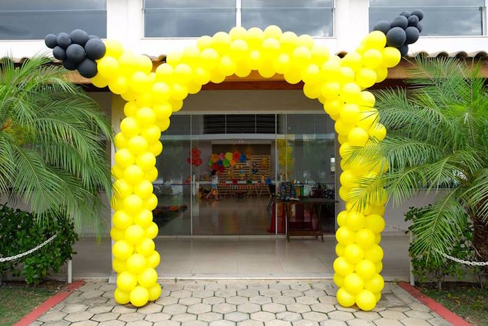 Pikachu Balloon Arch at a Girly Pokemon Birthday Party via Kara's Party Ideas | KarasPartyIdeas.com (18)