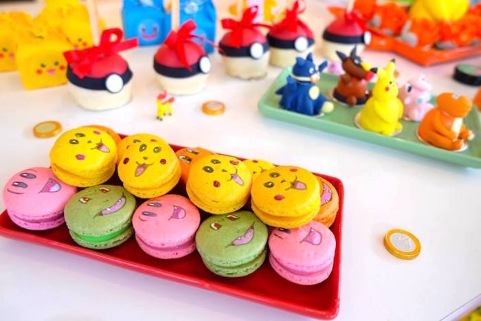 Pokemon Macarons at a Girly Pokemon Birthday Party via Kara's Party Ideas | KarasPartyIdeas.com (17)