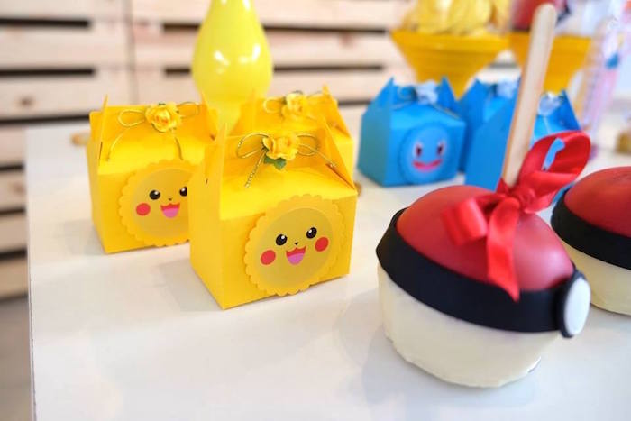 Pikachu Gable Favor Boxes at a Girly Pokemon Birthday Party via Kara's Party Ideas | KarasPartyIdeas.com (7)