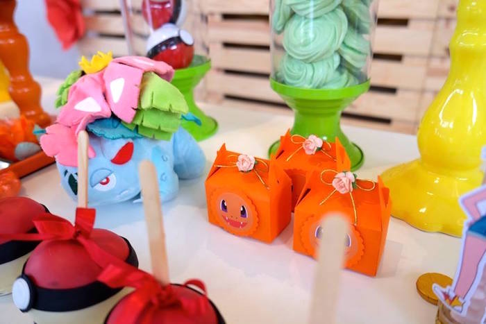 Pokemon Favor Boxes at a Girly Pokemon Birthday Party via Kara's Party Ideas | KarasPartyIdeas.com (5)