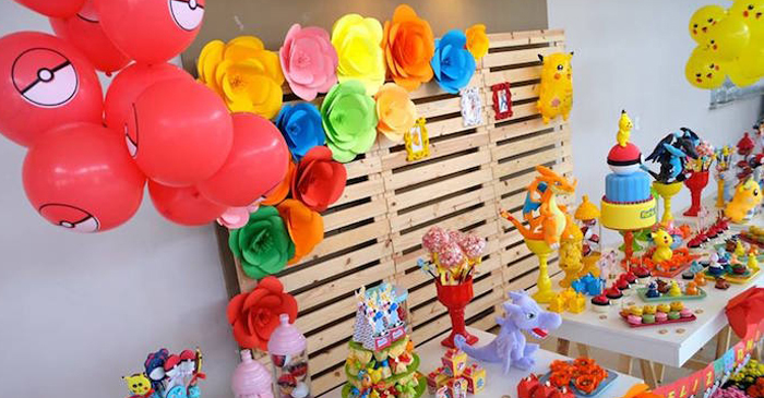Girly Pokemon Birthday Party via Kara's Party Ideas | KarasPartyIdeas.com (4)