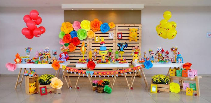 Girly Pokemon Birthday Party via Kara's Party Ideas | KarasPartyIdeas.com (1)