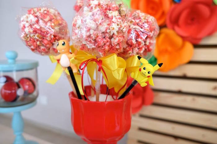 Pokemon Popcorn Balls at a Girly Pokemon Birthday Party via Kara's Party Ideas | KarasPartyIdeas.com (38)