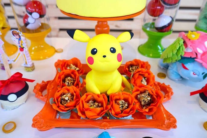 Girly Pokemon Birthday Party via Kara's Party Ideas | KarasPartyIdeas.com (33)