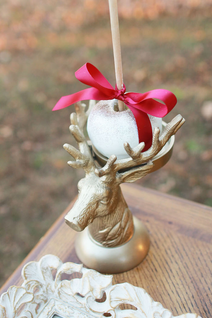 Dinner Party Ideas For 20 Part - 46: Gold Deer Sweet Pedestal From A Glam Woodland Thanksgiving Dinner Party On  Karau0027s Party Ideas |