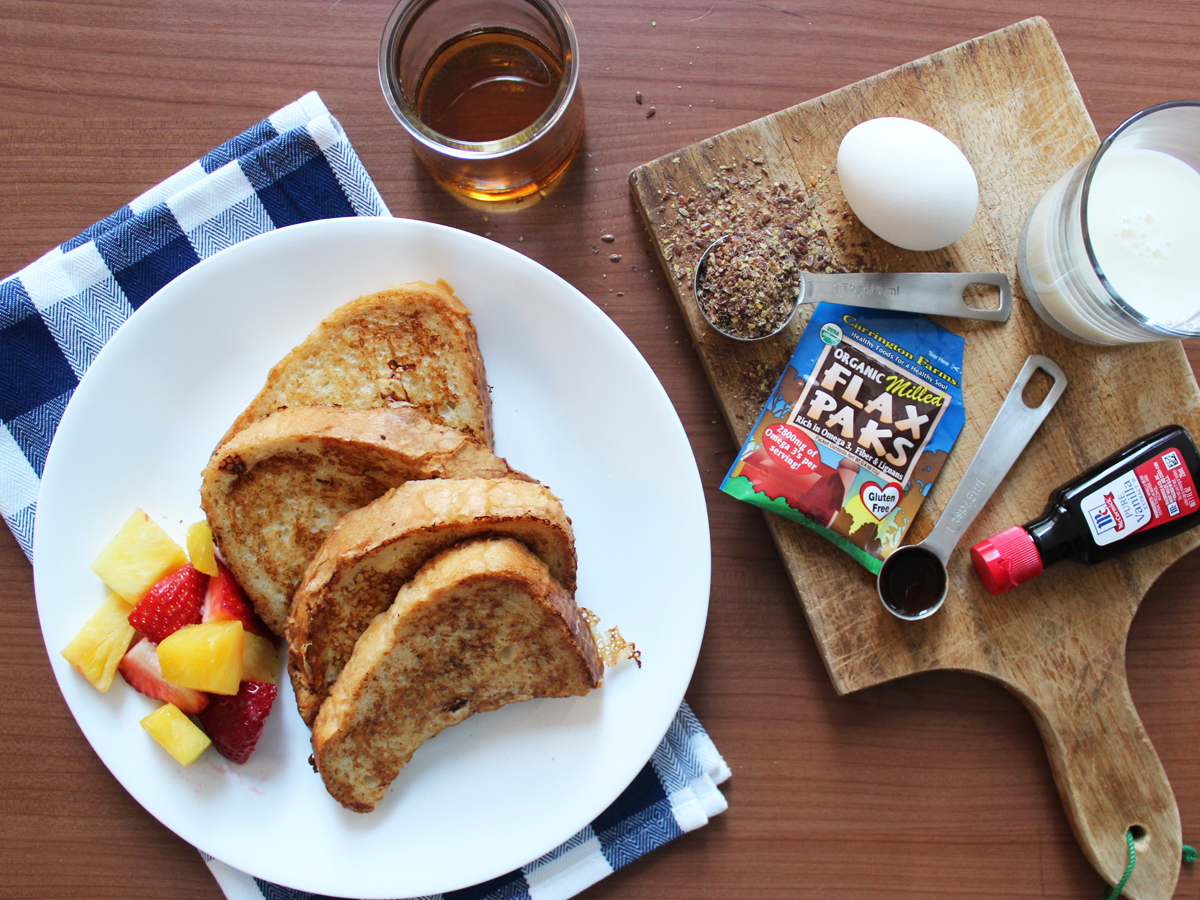 Healthy Holiday Recipe Series: Gluten-Free Vanilla Flax French Toast via Kara's Party Ideas