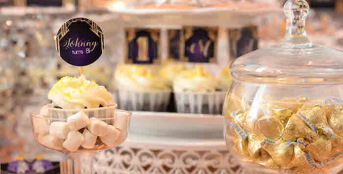 Great Gatsby Old Hollywood Birthday Party on Kara's Party Ideas | KarasPartyIdeas.com (4)
