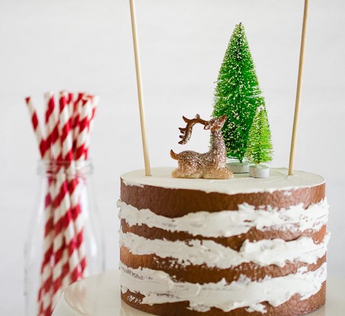 Christmas cake from a Holiday Pajama Party on Kara's Party Ideas | KarasPartyIdeas.com (8)