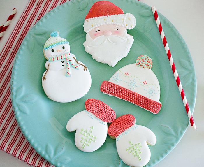 Christmas cookies from a Holiday Pajama Party on Kara's Party Ideas | KarasPartyIdeas.com (13)