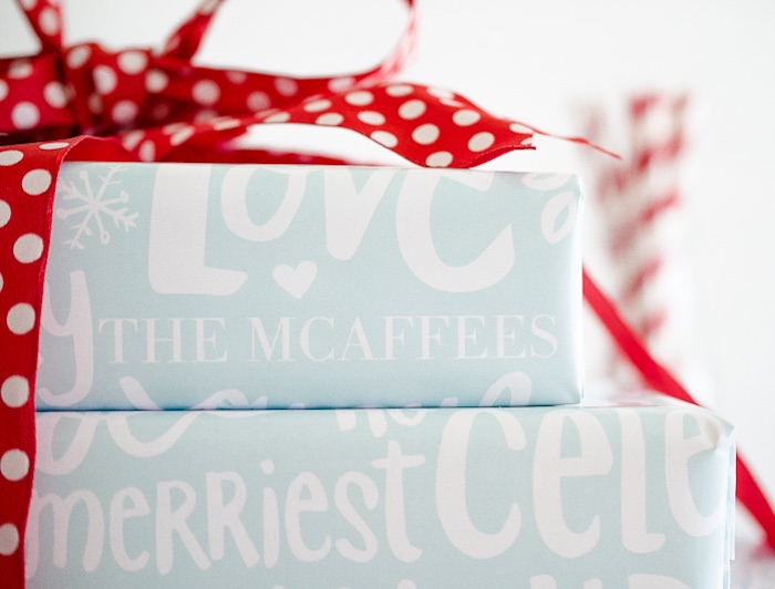 Wrapped gifts from a Holiday Pajama Party on Kara's Party Ideas | KarasPartyIdeas.com (11)