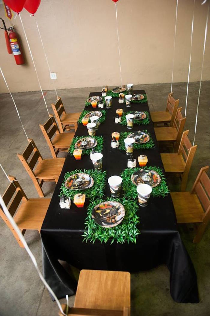 Guest tablescape from a How to Train Your Dragon Birthday Party on Kara's Party Ideas | KarasPartyIdeas.com (30)