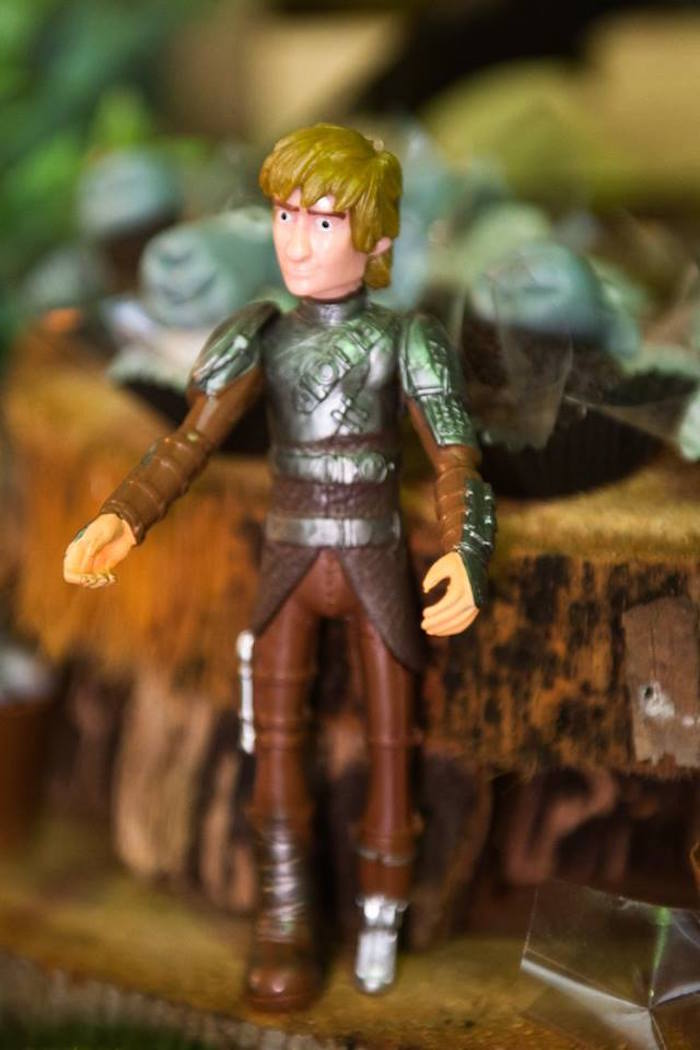 Hiccup figurine from a How to Train Your Dragon Birthday Party on Kara's Party Ideas | KarasPartyIdeas.com (29)