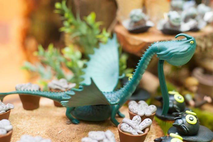 Dragon toy prop from a How to Train Your Dragon Birthday Party on Kara's Party Ideas | KarasPartyIdeas.com (28)