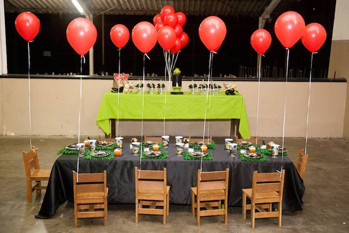 Guest table from a How to Train Your Dragon Birthday Party on Kara's Party Ideas | KarasPartyIdeas.com (12)