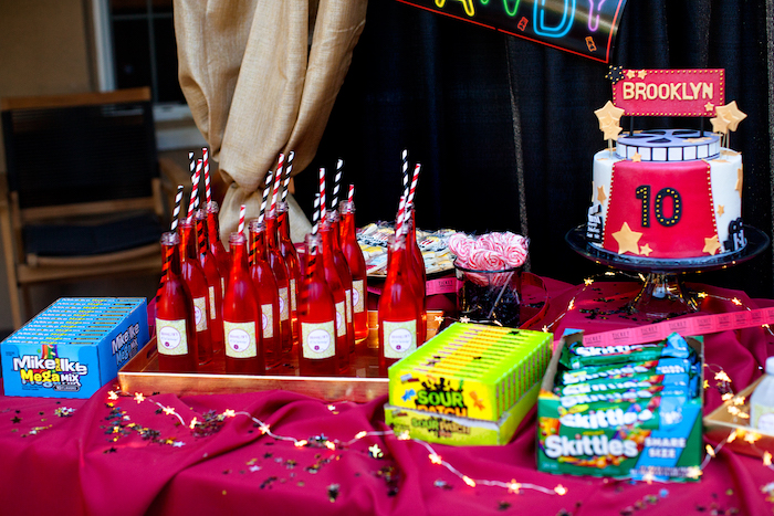 Night at the Movies Birthday Party via Kara's Party Ideas | KarasPartyIdeas.com (11)