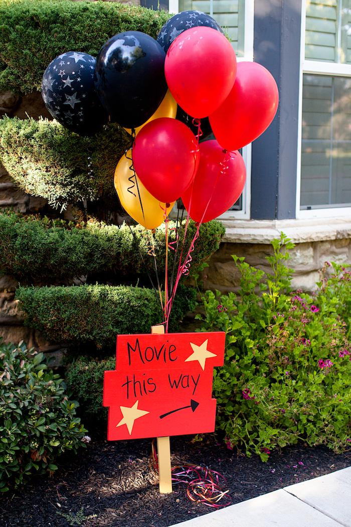 Night at the Movies Birthday Party via Kara's Party Ideas | KarasPartyIdeas.com (9)