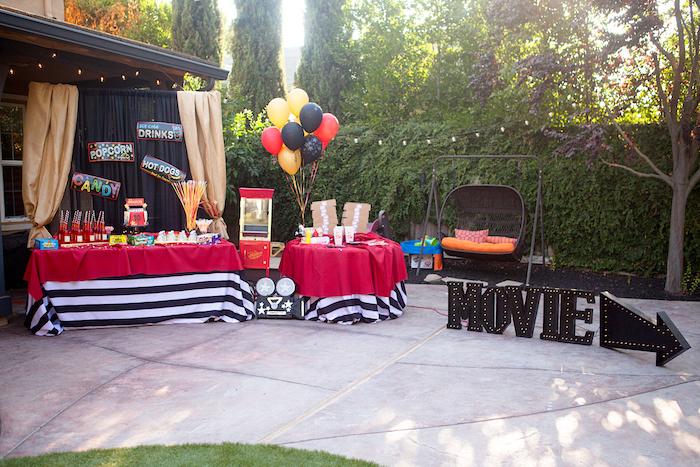 Night at the Movies Birthday Party via Kara's Party Ideas | KarasPartyIdeas.com (6)
