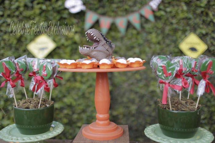 Sweets from a Jurassic Dinosaur Birthday Party on Kara's Party Ideas | KarasPartyIdeas.com (11)