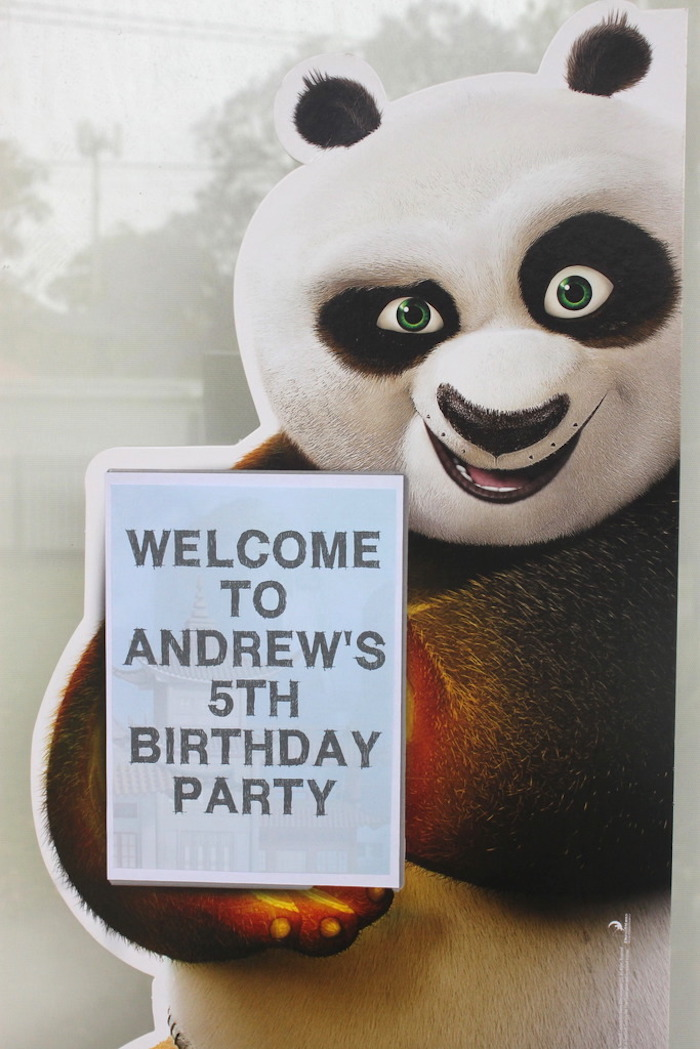 Welcome sign from a Kung Fu Panda Birthday Party on Kara's Party Ideas   KarasPartyIdeas.com (3)