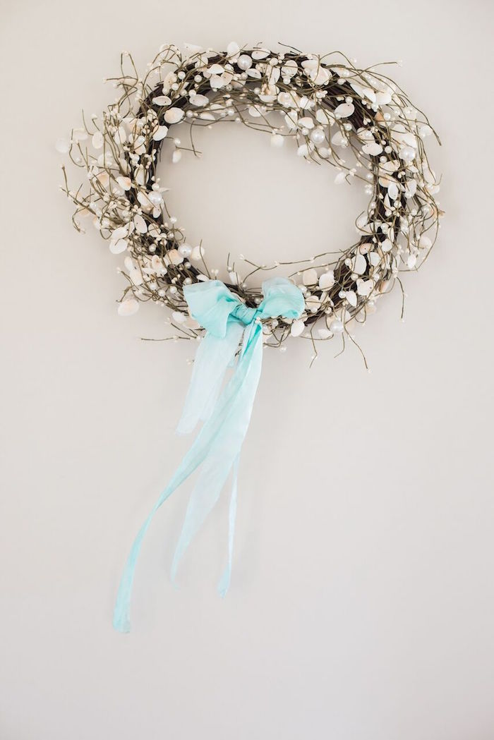 Floral crown from a Majestic Under the Sea Birthday Party on Kara's Party Ideas | KarasPartyIdeas.com (45)