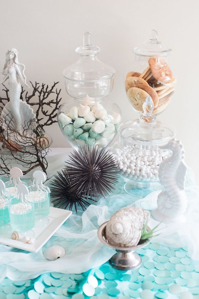 Sweets & decor from a Majestic Under the Sea Birthday Party on Kara's Party Ideas | KarasPartyIdeas.com (40)