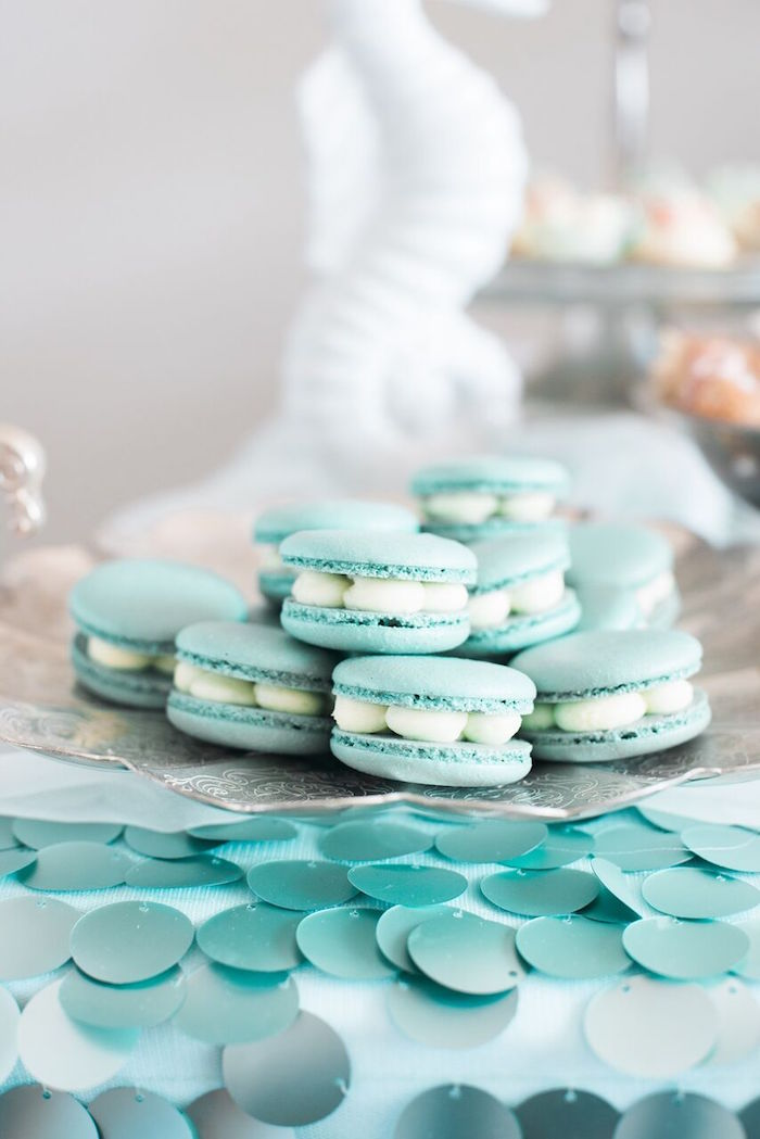 Macarons from a Majestic Under the Sea Birthday Party on Kara's Party Ideas | KarasPartyIdeas.com (30)