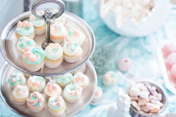Cupcakes from a Majestic Under the Sea Birthday Party on Kara's Party Ideas | KarasPartyIdeas.com (20)