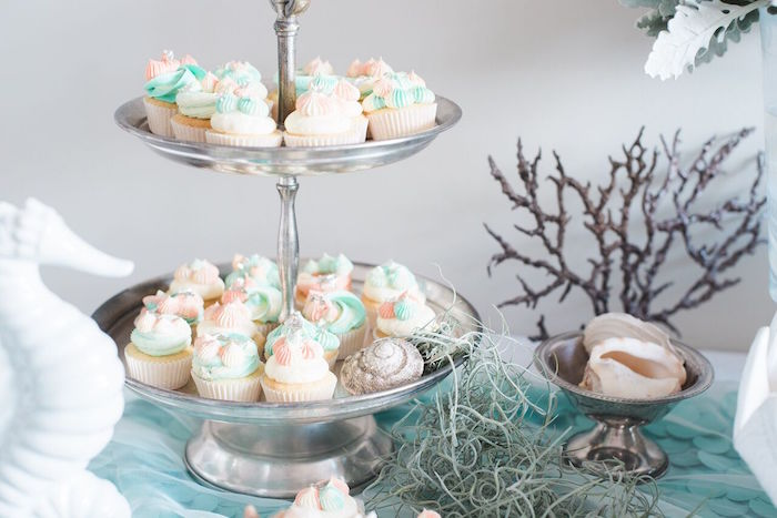 Cupcakes from a Majestic Under the Sea Birthday Party on Kara's Party Ideas | KarasPartyIdeas.com (19)