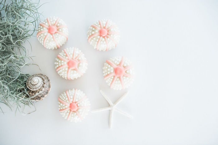 Beautiful Sea Urchin donuts from a Majestic Under the Sea Birthday Party on Kara's Party Ideas | KarasPartyIdeas.com (9)