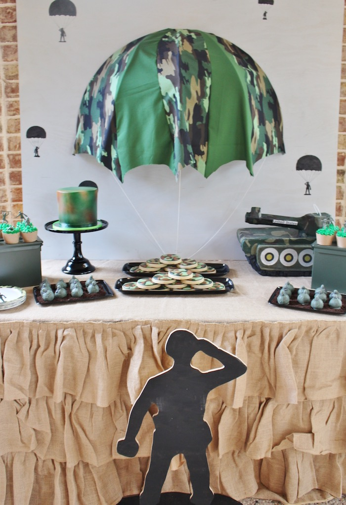 Military Toy Soldier Birthday Party on Kara's Party Ideas | KarasPartyIdeas.com (8)