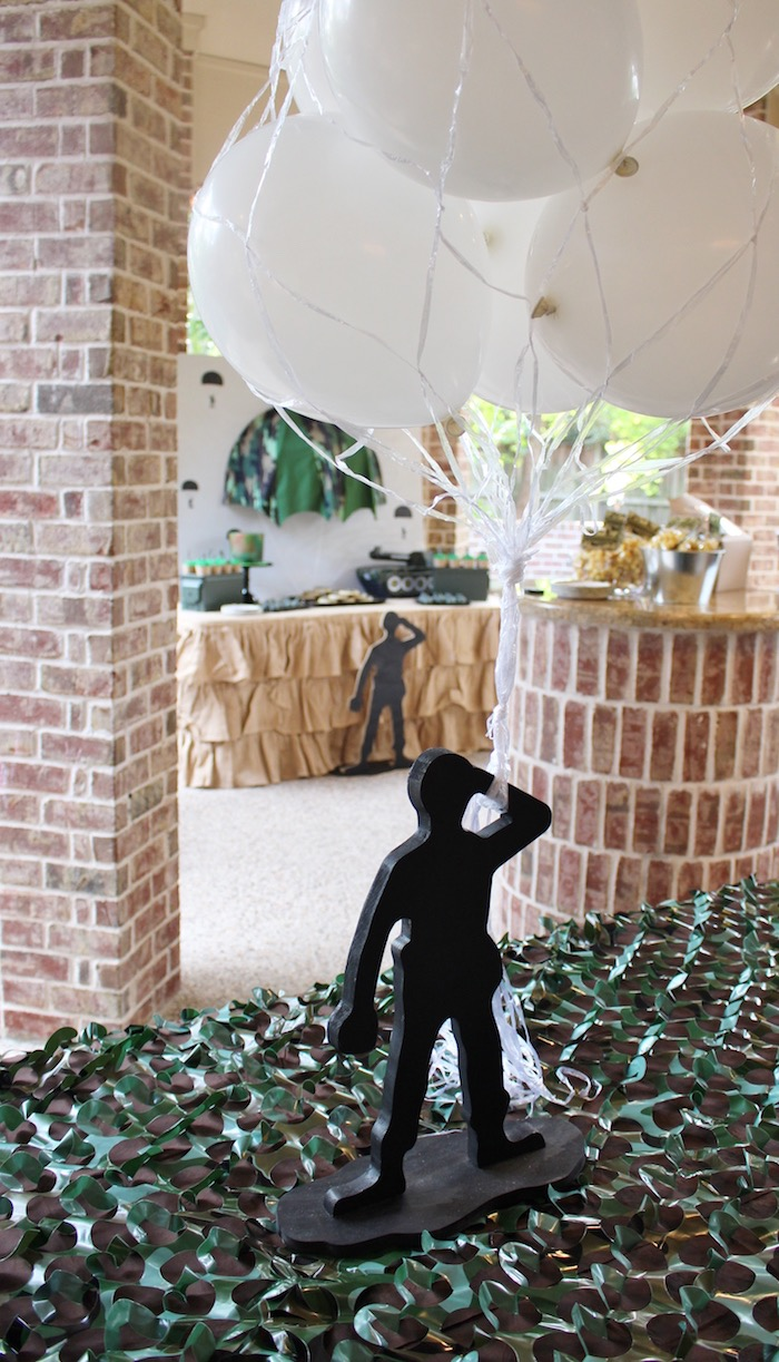 Party setup from a Military Toy Soldier Birthday Party on Kara's Party Ideas | KarasPartyIdeas.com (7)